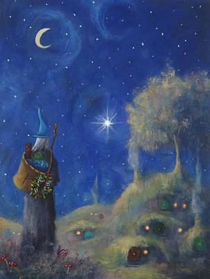 Elf Painting - Hobbiton Christmas Eve by Joe Gilronan