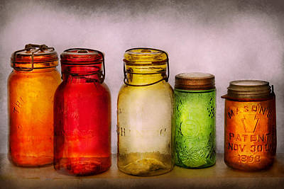 Custom Glass Photograph - Hobby - Jars - I'm A Jar-aholic  by Mike Savad