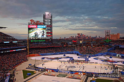 Hockey At The Ballpark Print by David Rucker