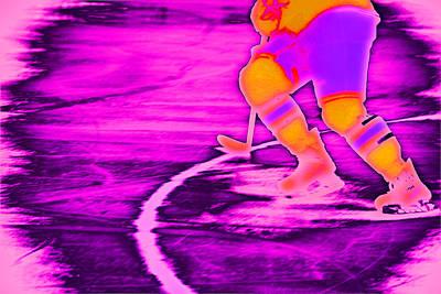 Hockey Freeze Print by Karol Livote