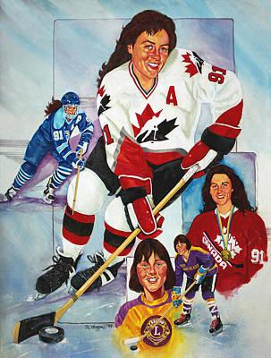 Hockey Hall Of Famer Geraldine Heaney Print by Derrick Higgins