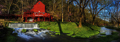 Grist Mill Photograph - Hodgson Mill Pano by Kevin  Whitworth