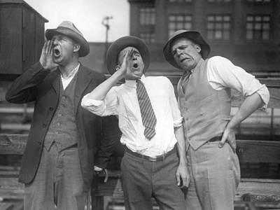 Unusual Animal Photograph - Hog Calling Practice by Underwood Archives