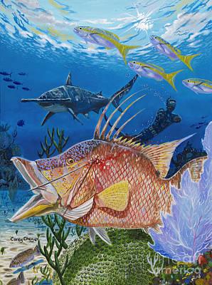 Hammerhead Shark Painting - Hog Fish Spear by Carey Chen