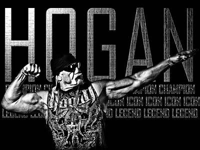 Wwe Digital Art - Hogan Tribute By Gbs by Anibal Diaz