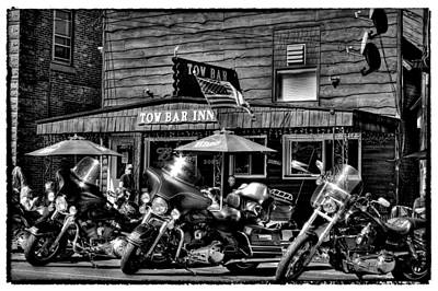 Harley-davidson Photograph - Hogs At The Tow Bar Inn - Old Forge New York by David Patterson