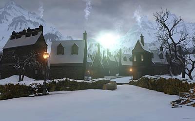 Hogwarts Digital Art - Hogsmeade by Cynthia Decker