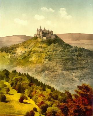 Castle Mixed Media - Hohenzollern Germany Castle by Dan Sproul