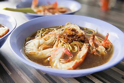 Hokkien Soup Prawn Noodles Closeup Print by JPLDesigns