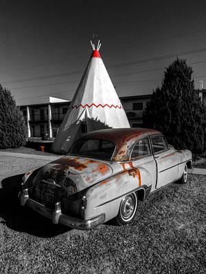 Auto Photograph - Holbrook Az - Wigwam Motel 007 by Lance Vaughn