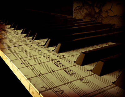 hold Piano Print by Bruno Haver