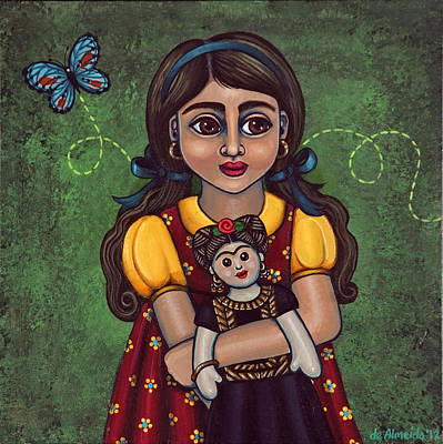 Granddaughter Painting - Holding Frida by Victoria De Almeida