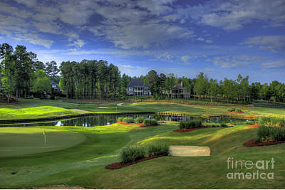 Holes 2 And 3 At The Landing In Reynolds Plantation Print by Reid Callaway