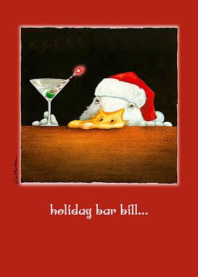 Runner Painting - Holiday Bar Bill... by Will Bullas