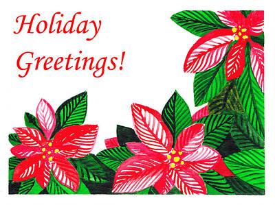 Holiday Greetings Print by Irina Sztukowski