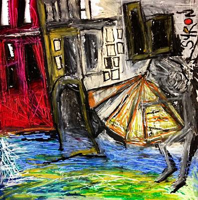 Basquiat Drawing - Holiday In Venice by Helen Syron
