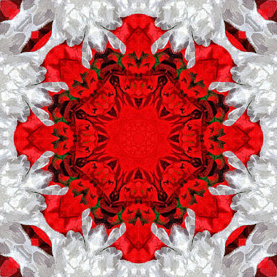 Holiday Kaleidoscope II Print by Dawn Currie