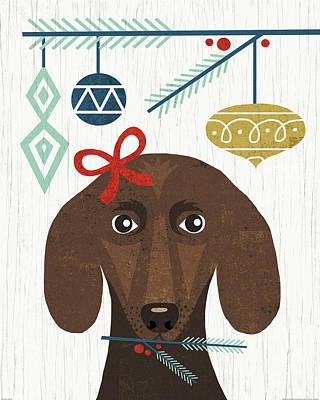 Animal Christmas Painting - Holiday On Wheels Xv by Michael Mullan