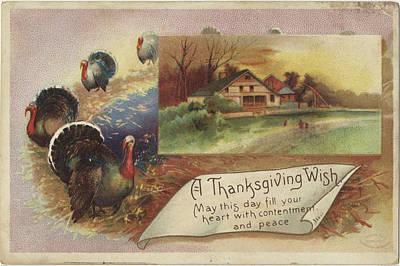 Turkey Painting - Holiday Postcards Vii by Wild Apple Portfolio