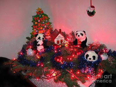 Holidays In Pandaland Print by Ausra Huntington nee Paulauskaite