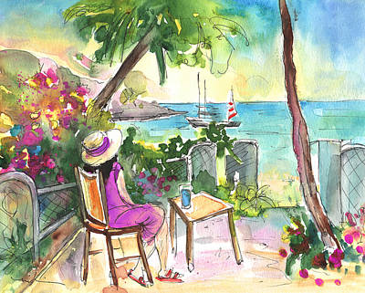 West Indies Drawing - Holidays In Saint Martin by Miki De Goodaboom