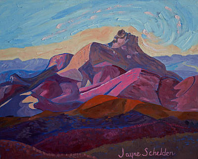 Islay Painting - Hollister Peak by Jayne Schelden