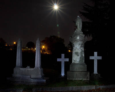 Hollywood Cemetery Moon Burst Print by Jemmy Archer