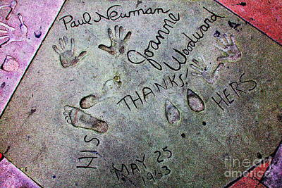 Of Money Photograph - Hollywood Chinese Theatre Paul Newman 5d29049 by Wingsdomain Art and Photography