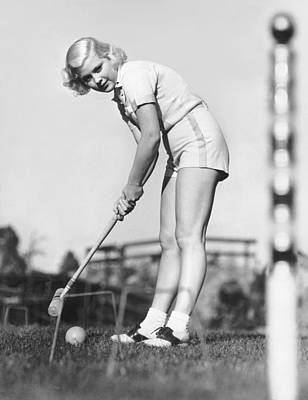 Hollywood Croquet Print by Underwood Archives