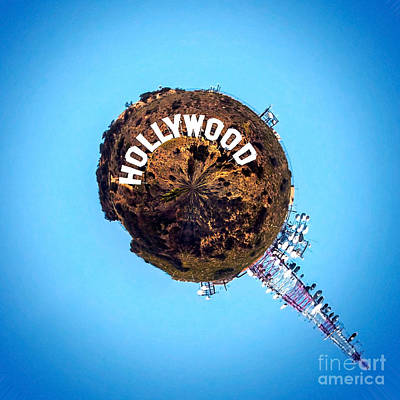 Hollywood Sign Circagraph Print by Az Jackson