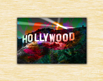 Hollywood Sign Print by Marvin Blaine