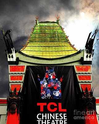 Hollywood Tcl Chinese Theatre 5d28983 Vertical Print by Wingsdomain Art and Photography