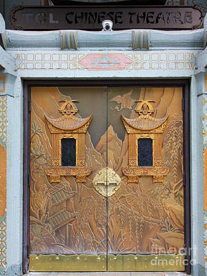 Hollywood Tcl Chinese Theatre Main Entrance Doors 5d29001 Print by Wingsdomain Art and Photography