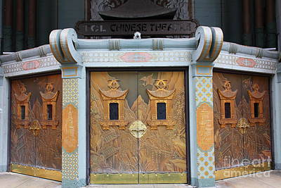 Hollywood Tcl Chinese Theatre Main Entrance Doors 5d29003 Print by Wingsdomain Art and Photography
