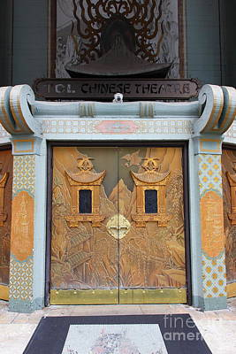 Hollywood Tcl Chinese Theatre Main Entrance Doors 5d29005 Print by Wingsdomain Art and Photography