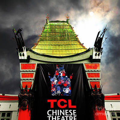 Hollywood Tcl Chinese Theatre 5d28983 Square Print by Wingsdomain Art and Photography
