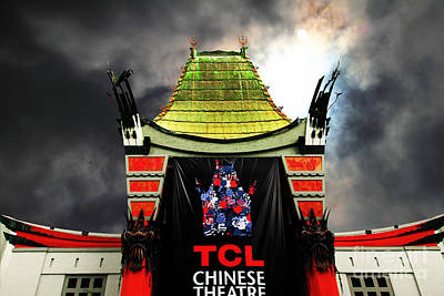 Hollywood Tcl Chinese Theatre 5d28983 Print by Wingsdomain Art and Photography