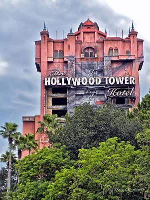 Hollywood Tower Hotel Walt Disney World Print by Thomas Woolworth
