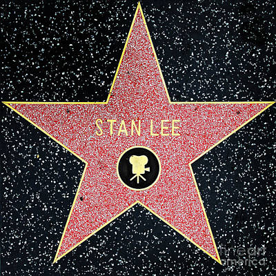 Hollywood Walk Of Fame Stan Lee 5d28914 Print by Wingsdomain Art and Photography