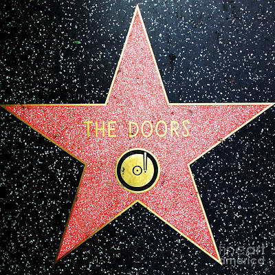 Hollywood Walk Of Fame The Doors 5d29063 Print by Wingsdomain Art and Photography
