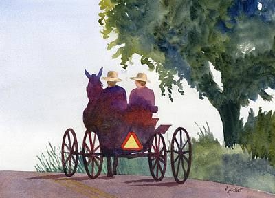 Buggy Painting - Holmes County Ohio by Marsha Elliott