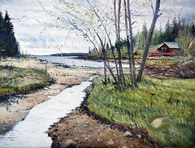 Painting - Holmsund Sweden 2014 by Enver Larney