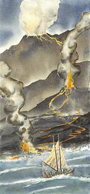 Pele Painting - Holokai Voyage by Michael Donenfeld