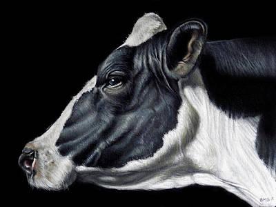Holstein Friesian Dairy Cow  Print by Brent Schreiber