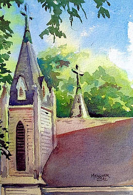 Holy Angels Steeples Original by Spencer Meagher