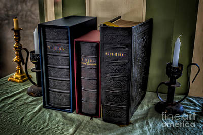Holders Photograph - Holy Bibles by Adrian Evans