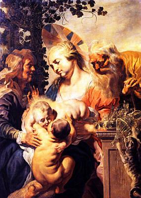 St Elizabeth Photograph - Holy Family With St. Elizabeth by Munir Alawi