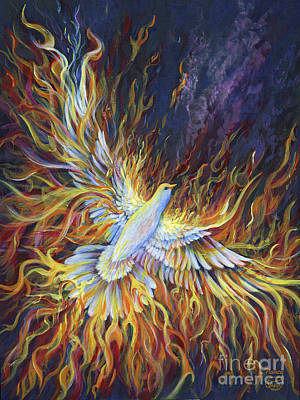 Painting - Holy Fire by Nancy Cupp