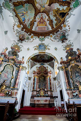 Holy Ghost Hospital Church - Fussen - Germany Print by Gary Whitton