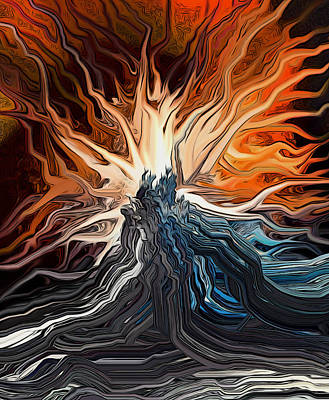 Burning Bush Digital Art - Holy Ground by Ron Cantrell